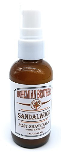 Bohemian Brothers Grooming - Sandalwood Aftershave Balm For Men. Superior Moisturizing with Soothing Aloe Vera and Shea...