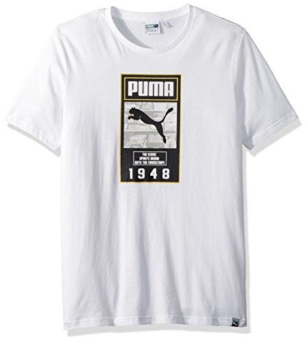 PUMA Men's Brand Plus T-Shirt, White, XL