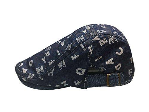 Voyage Taille Tissu A Denim Acvip Unique Noeud Avec De Souple Chapeau Béret Visière Adulte Casquette Pour Unisexe Imprimé Lettre gpa7x
