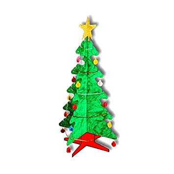 3d Christmas Tree.Kid Eco 3d Christmas Tree White 5 Pack Amazon Co Uk Toys