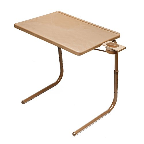Table Mate II Folding TV Tray Table and Cup Holder with 6 Height and 3 Angle Adjustments the Original TV Tray (Mocha)