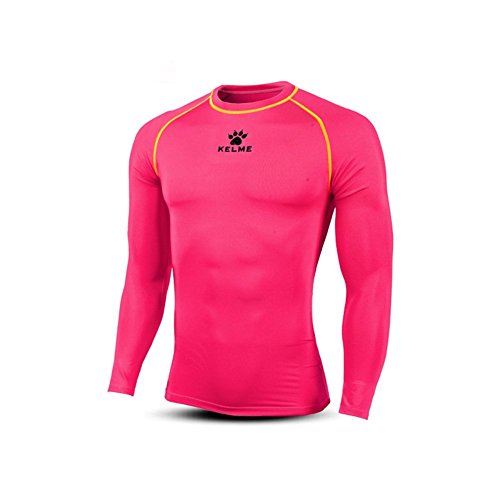 Rose Sport Collant shirt Manches Homme Compression Kelme Shirt T Tops Longues ZqTHXSv