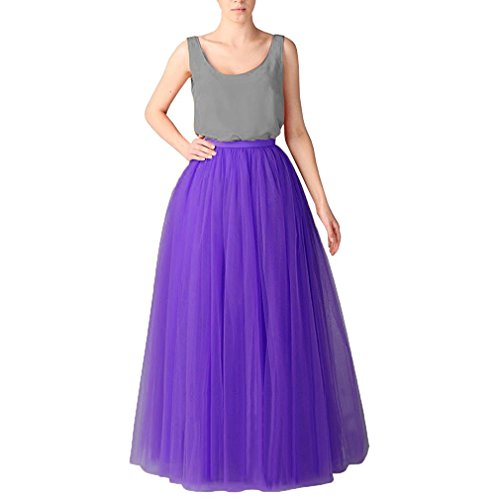Jupe Violet Longue Couches 6 Elastic Tulle Tutu Princesse Couturebridal® 110cm Ceinture Femme zGqUVMSp