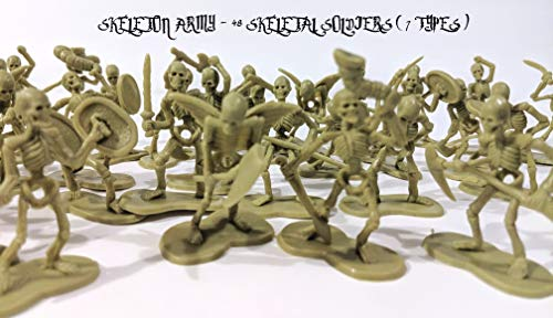 (LBJ Skeleton Army (48 Units, 7 Models). Great for: DIORAMAS, Props for Photos/ Art Projects, D & D SUBSTITUTES and Much)