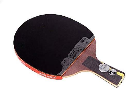 Kalmar 卓球ラケット、王Liqinギフトボックス化卓球ラケット、両面抗癒着レザーペンホールド/ショートハンドル(フリーセット) Professional Training/Recreational Racquet Kit