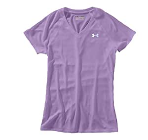 Under Armour Women's UA Tech Shortsleeve V-Neck (Lavender, Medium)