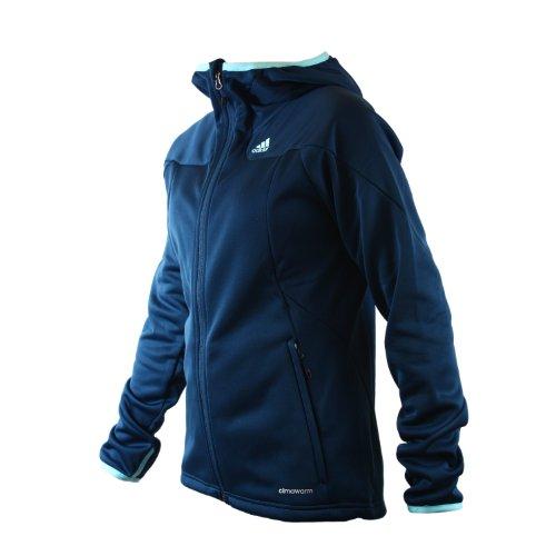 Adidas Hiking/Trekking Hooded 1-Side Fleece Jacket - Submarine Blue (Women)