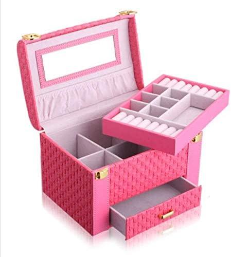 XWYSSH主催 ジュエリー収納ボックスポータブルジュエリー収納ボックス大容量のジュエリー多層引き出し宝石箱をバラ XWYSSH