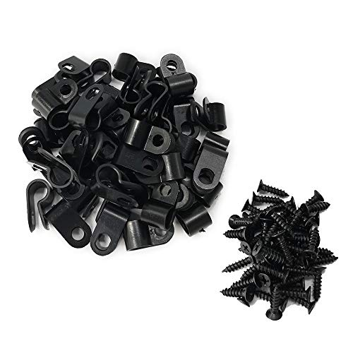 Fasteners Of Types - Alamic Cable Clamp R-Type Cable Clip Wire Clamp 1/4