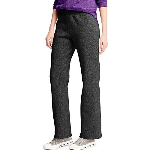 Hanes ComfortSoft Women's Open Bottom Leg Fleece Sweatpant_Ebony_M