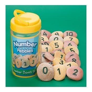 Yellow Door YD-11 Number Pebbles, Kindergarten Grade to 3 Grade, 5