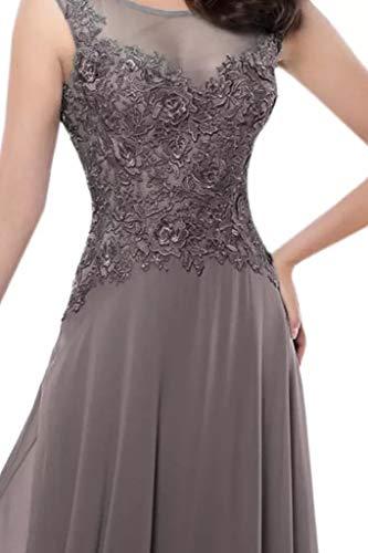 2017 Abschlussballkleider Damen Braut Chiffon Dunkel Rosa Promkleider Marie Spitze Grau A Partykleider Linie La Abendkleider Tgqvtxn