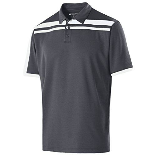 - Holloway Dry-Excel Mens Charge Polo (X-Large, Carbon/White)