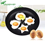 4pcs Form For Eggs, Stainless Steel Fried Egg Mold Kitchen Tool Pancake Rings Cooking Egg Styling Tools Gadget .b