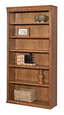 "Kathy Ireland Home by Martin Huntington Oxford Open Bookcase, 72"", Burnish - Fully Assembled"