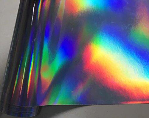 Spiegelfolie Effektfolie 1m x 1,52m 3D HOLOGRAPHIC Chrom RAINBOW f/ür Car Wrapping
