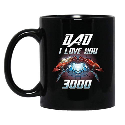 DAD I Love You 3000 T-Shirt Awesome Mug Love DAD Shirt Hoodie Gifts for Women Men Boys Girls Big Fans Standard Coffee Mugs, Fathers Day Gifting ideas - Premium Quality printed (Black, 11oz.)]()