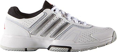 火薬嫌悪メトリックアディダス シューズ スニーカー adidas Women's Barricade Court 2 Tennis WhiteSilve [並行輸入品]
