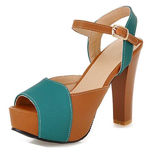 Coloré Elégant de Poisson Vert Plateforme Aisun Femme Bouche Sandales Yqxga