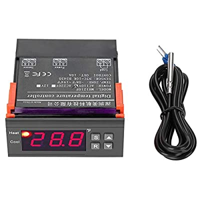 -58~99? Alarm MH1210F Digital Intelligent Thermostat LED Temperature Controller with Sensor AC110V