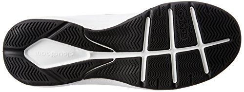 adidas Herren Cloudfoam Ilation Mid Basketballschuhe, Elfenbein (Ftwbla/Negbas/Plamat), 47 EU