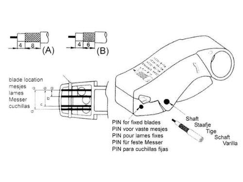 VSE 720403/Coax Outil de d/écapage avec 3/lames RG58