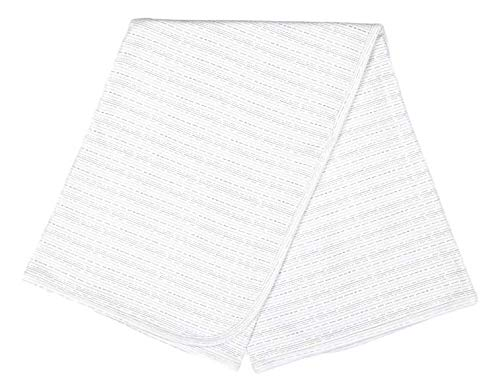giggle Printed Receiving Blanket - Giggle Small Stripe - 100% Peruvian Cotton, Baby Swaddle Receiving Blankets ()
