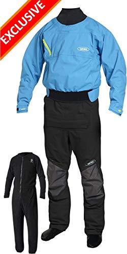 (Yak Vanguard Whitewater / Kayak Drysuit + Underfleece - BLUE 2734 Size - - Large)