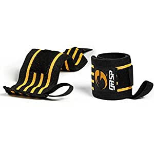 GASP Hardcore Wrist Wraps Color: Black / Wrist Support for Bodybuilding + Weight Lifting