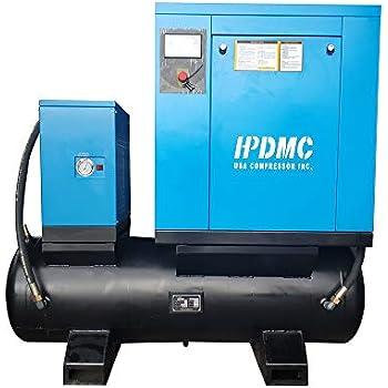 Amazon com: HPDMC Rotary Screw Compressor -10 HP / 7 5 KW