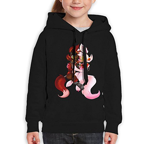 Avis N Youth Hoodie Foxy and Mangle Classic Hoodies For For Boys and Girlsrn Black XL