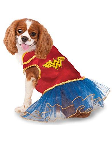 DC Comics Wonder Woman Pet Tutu Dress, (Nineties Movie Costumes)