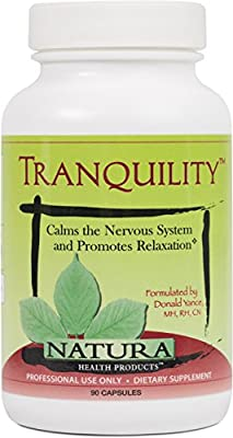 Natura Health Products - Tranquility - Calms the Nervous System and Promotes Relaxation - 90 Capsules