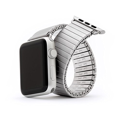 Speidel Silver Bands - Twist-O-Flex Metal Expansion 42mm / 44mm Stretch Band in Silver Stainless Steel for for Smart Watch Series 1, 2, 3, and 4 in XS by Speidel