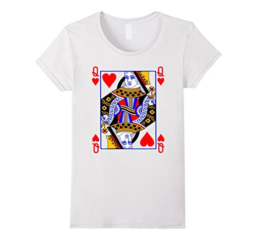 Womens Queen of Hearts Playing Card Poker Card Costume Tee Shirt Medium (Queen Of Hearts Clothes)
