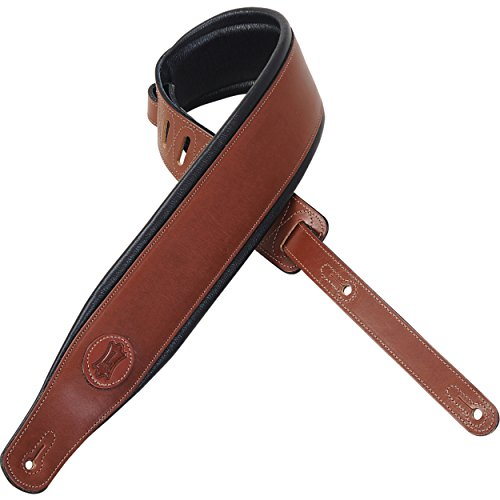 Levy's Leathers MSS1-BRN Veg Tan Leather Guitar Strap,Brown