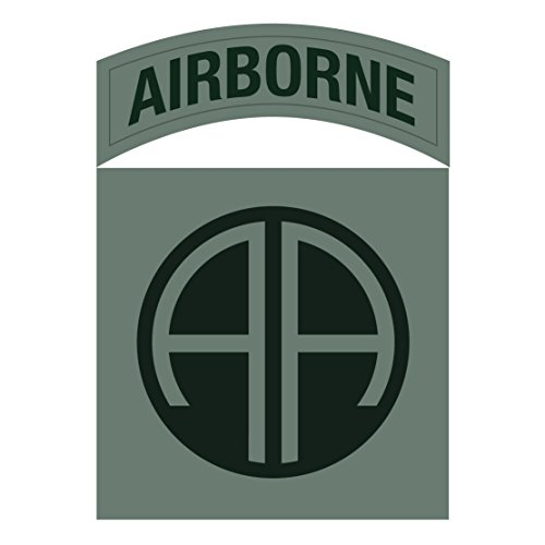 US Army - 82nd Airborne Division SSI Patch Decal ACU Colors - 3.5 Inch Tall Full Color Decal, Sticker