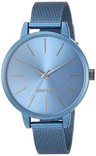Nine West Women's NW/2281BLBL Blue Mesh Bracelet -