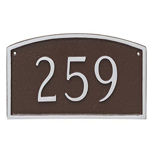 Montague Metal Prestige Arch Petite Address Sign Plaque, 5.5