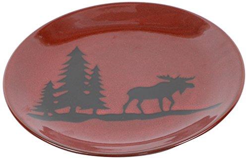 Moose Stoneware - DEI Woodland Moose Stoneware Dinner Plate, 11-Inch