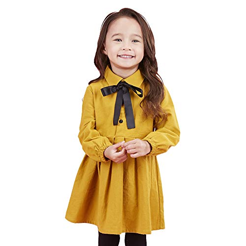 SenseFit Kids Girls Long Sleeve Casual Stripe Dresses 3-8 Years