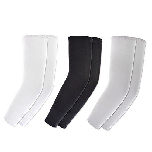 KOVISS 3 Pairs of Sports Cooling Arm Sleeves UV Protection Bike Hiking Golf Cycle Drive outside activities