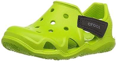 crocs Kids' Swiftwater Wave K Slip-On, Volt Green, 6 M US Toddler