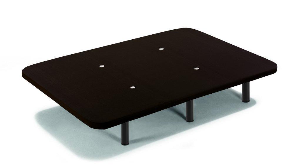 HOGAR24 Base tapizada con Tejido 3D Negro y válvulas de transpiración + 6 Patas de Metal roscadas de 32cm-135x190cm: Amazon.es: Hogar