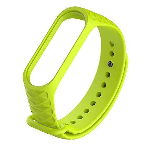 - Clearance Sale!DEESEE(TM)Fashion Sport Soft Silicone Replacement Wristband Wrist Strap for Xiao Mi Band 3 (Green)