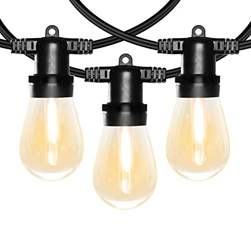 Banord 102FT Dimmable LED Outdoor String Lights, 34 Hanging Sockets with 35 x Shatterproof LED Bulb Party Lights, Waterproof Vintage Ambiance Patio Lights String for Wedding,Gatherings (String Patio Lights Outdoor)