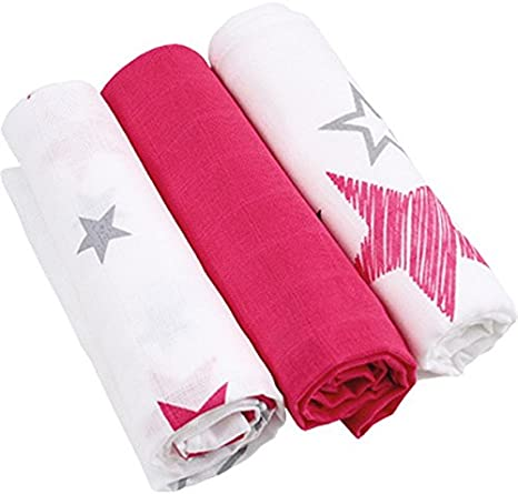 Bebé toallas de 3er Pack Colour rosa 100% algodón paño para bebé ...