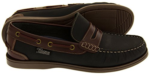 Helmsman Studio Bleu Et Hommes Cuir Marine Chaussures 72015 Bateau Mocassin Redwood Footwear qgUxBwq