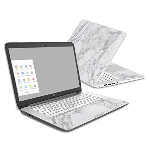 Mightyskins Skin Compatible with Hp Chromebook 14 (2014) - Frost Marble | Protective, Durable, and Unique Vinyl Decal Wrap Cover | Easy to Apply, Remove, and Change Styles | Made in The USA