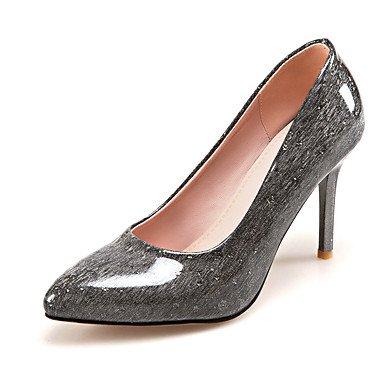 Talones de las mujeres Primavera Verano Otoño Invierno Otro Club Zapatos de cuero de Patentes personalizada boda Materiales de Oficina y del partido de la carrera y Noche Pink